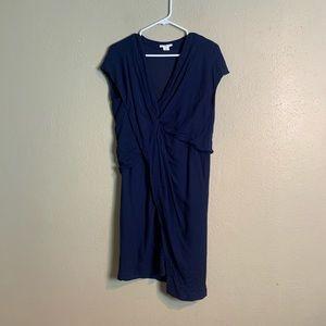 Helmet Lang Dress asymmetrical blue 6 jjj23